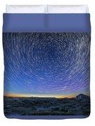 Solstice Star Trails At Dinosaur Park Duvet Cover