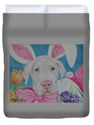 Some Bunny Says Spring Has Sprung Duvet Cover