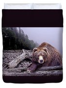 Some Days You Eat The Bear Some Days The Bear Eats You Duvet Cover