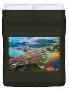 Somewhere Over Latvia. Rainbow Earth Duvet Cover