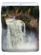 Somewhere Over The Falls Duvet Cover