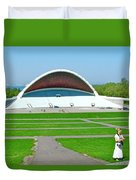 Song Festival Amphitheatre In Tallinn-estonia Duvet Cover