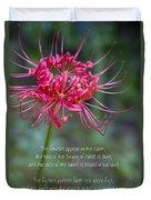 Song Of Solomon - The Flowers Appear Duvet Cover