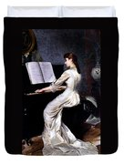 Song Without Words, Piano Player, 1880 Duvet Cover
