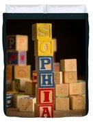 Sophia - Alphabet Blocks Duvet Cover