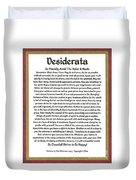 Sophistcated Medieval Style Desiderata Duvet Cover