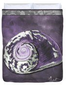 Sophisticated Coastal Art Original Sea Shell Painting Purple Royal Sea Snail By Madart Duvet Cover