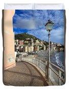 Sori - Sea And Promenade Duvet Cover