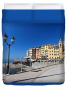 Sori Waterfront. Italy Duvet Cover