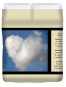 Soul Mate With Poetry Duvet Cover