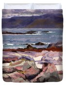 Sound Of Iona  The Burg From The North Shore Duvet Cover