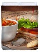 Soup And Sandwich Duvet Cover