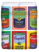 Soup Cans Duvet Cover