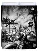 South Beach Cruiser Duvet Cover