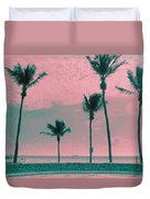 South Beach Miami Tropical Art Deco Five Palms Duvet Cover