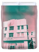 South Beach Miami Leslie Tropical Art Deco Hotel Duvet Cover