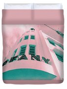 South Beach Miami Tiffany Hotel Tropical Art Deco Duvet Cover