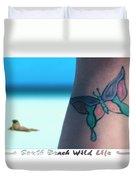 South Beach Wild Life Duvet Cover by Mike McGlothlen