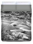 South Boulder Creek Little Waterfalls Rollinsville Bw Duvet Cover