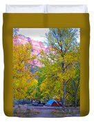 South Campground In Zion Np-ut Duvet Cover