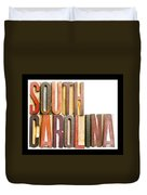 South Carolina Antique Letterpress Printing Blocks Duvet Cover