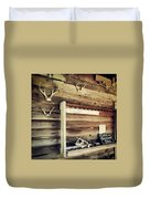 South Carolina Hunting Cabin Duvet Cover