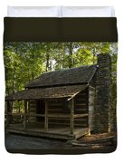 South Carolina Log Cabin Duvet Cover