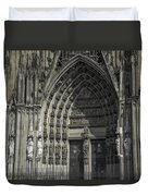 South Entrance Cologne Cathedral Duvet Cover