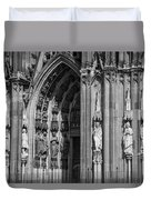 South Entrance Detail Cologne Cathedral Duvet Cover