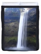 South Falls In Winter Time Duvet Cover