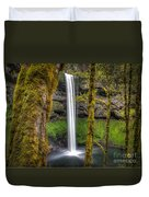 South Falls Silver Falls State Park Duvet Cover