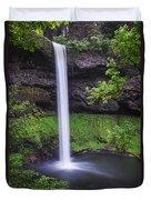 South Falls - Silver Falls State Park - Oregon Duvet Cover
