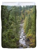 south fork Snoqualmie river Duvet Cover