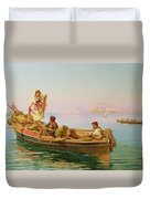 South Italian Fishing Scene Duvet Cover