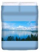 South Lake Tahoe In Winter, California Duvet Cover