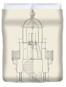 South Manitou Island Lighthouse Duvet Cover