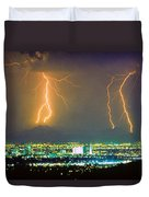 South Mountain Lightning Strike Phoenix Az Duvet Cover