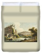 South Parade From Bath Illustrated Duvet Cover by John Claude Nattes