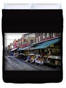 South Philly Italian Market Duvet Cover