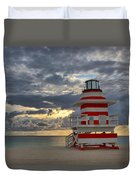 South Pointe Park Lighthouse Duvet Cover