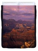 South Rim Grand Canyon Taken Near Yavapai Point Sunset Light On  Duvet Cover