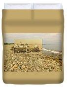 South Shore Beach In Little Compton Rhode Island Duvet Cover