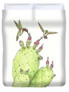 South Texas Nopales For Breakfast Duvet Cover
