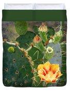 South Texas Prickly Pear Duvet Cover