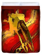 South Western Style Art With A Canadian Moose Skull  Duvet Cover by John Malone