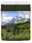 Southbound Alaska Railroad  Duvet Cover