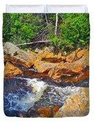 Southeast Brook Above Falls In Gros Morne Np-nl Duvet Cover