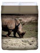 Southern Black Rhino Duvet Cover