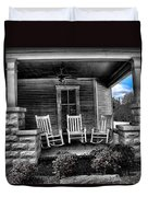 Southern Front Porch 1 Duvet Cover