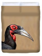 Southern Ground Hornbill Portrait Side View Duvet Cover by Johan Swanepoel